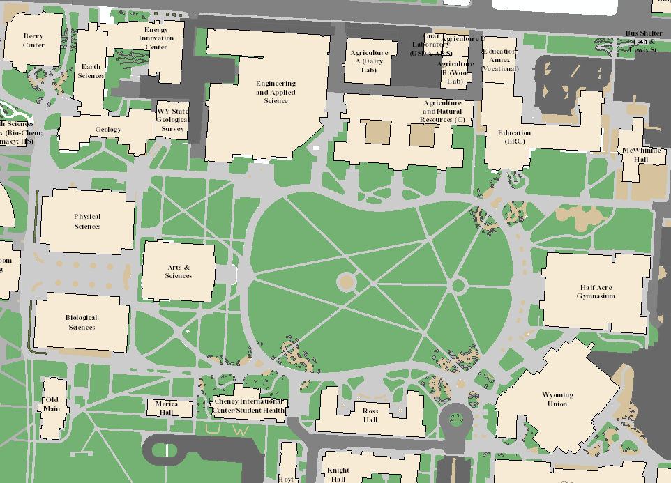 Lander Campus Map.Campus Enterprise Gis